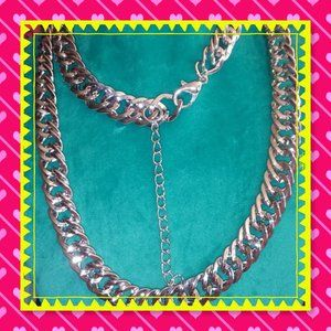 BNWT 💥 BLING TIME💥26' LONG SILVER FLUID NECKLACE